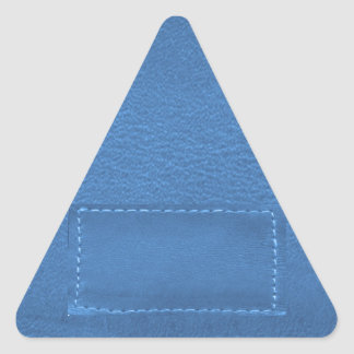 Remiendo de la mirada del cuero del vintage - pegatina triangular
