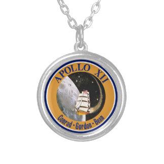 Remiendo de la misión de Apolo 12 Colgante Redondo