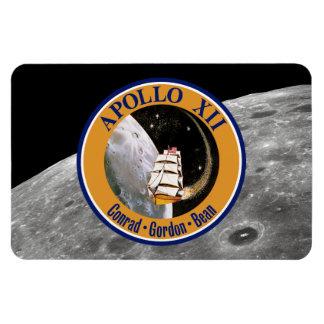 Remiendo de la misión de Apolo 12 Iman Rectangular