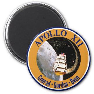 Remiendo de la misión de Apolo 12 Imán Redondo 5 Cm