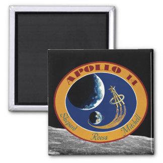 Remiendo de la misión de Apolo 14 Imán Cuadrado