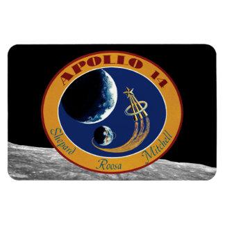 Remiendo de la misión de Apolo 14 Imán De Vinilo