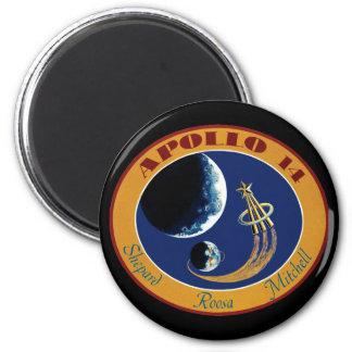Remiendo de la misión de Apolo 14 Imán Redondo 5 Cm