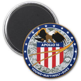 Remiendo de la misión de Apolo 16 Imán Redondo 5 Cm