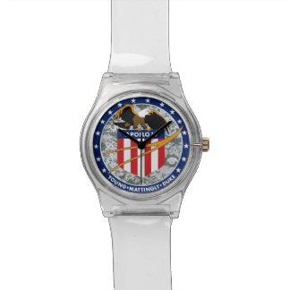 Remiendo de la misión de Apolo 16 Relojes De Mano