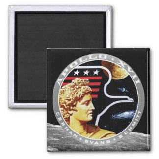 Remiendo de la misión de Apolo 17 Imán Cuadrado