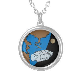 Remiendo de la misión de Apolo 1 Colgante Redondo