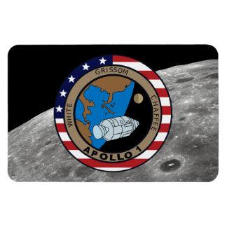 Remiendo de la misión de Apolo 1 Imán