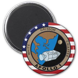 Remiendo de la misión de Apolo 1 Imán Redondo 5 Cm