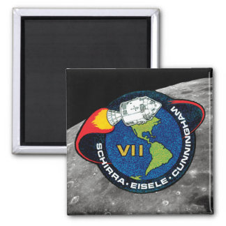 Remiendo de la misión de Apolo 7 Imán Cuadrado