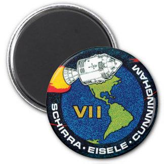 Remiendo de la misión de Apolo 7 Imán Redondo 5 Cm