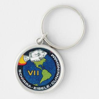 Remiendo de la misión de Apolo 7 Llaveros Personalizados