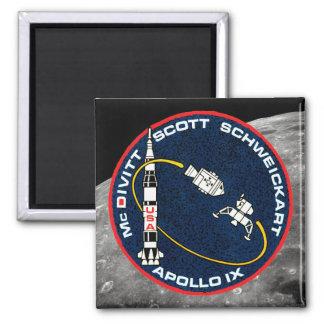 Remiendo de la misión de Apolo 9 Imán Cuadrado