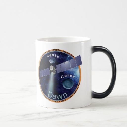 Remiendo de la misión del amanecer tazas de café