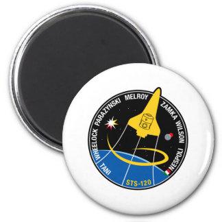 Remiendo de la misión del STS 120 Imán Redondo 5 Cm