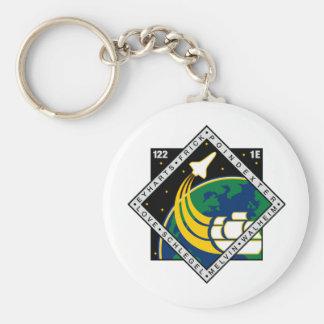 Remiendo de la misión del STS 122 Llavero Redondo Tipo Pin
