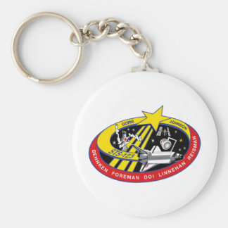 Remiendo de la misión del STS 123 Llavero Redondo Tipo Pin