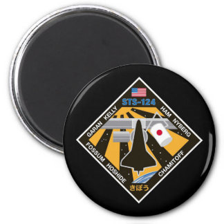 Remiendo de la misión del STS 124 Imán Redondo 5 Cm