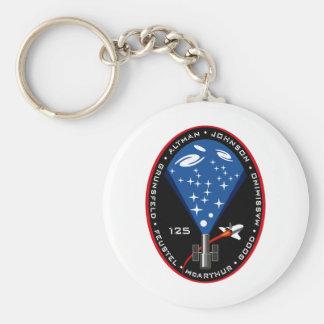Remiendo de la misión del STS 125 Llavero Redondo Tipo Pin