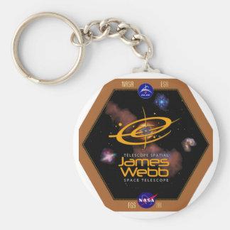 Remiendo de la NASA del telescopio espacial de Llavero Redondo Tipo Pin
