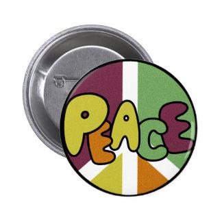 Remiendo de la paz pin redondo de 2 pulgadas