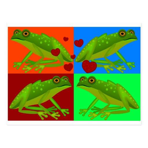 Remiendo de las ranas del amor postal