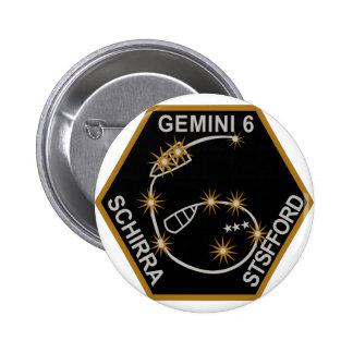 Remiendo de los GÉMINIS 6 SCHIRRA STAFFORD Pin Redondo 5 Cm