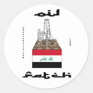 Remiendo del aceite de Iraq pegatina Kirkuk ace