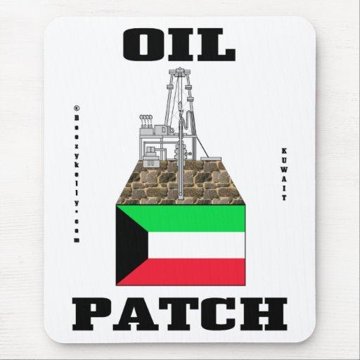 Remiendo del aceite de Kuwait, bandera kuwaití, Mo Alfombrillas De Ratones