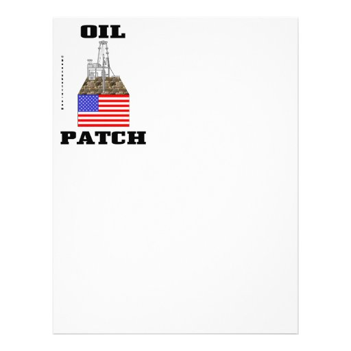Remiendo del aceite de los E.E.U.U., papel con mem Plantilla De Membrete