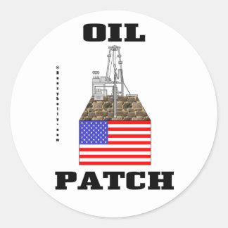 Remiendo del aceite de los E.E.U.U., pegatina,