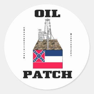 Remiendo del aceite de Mississippi, pegatina de la