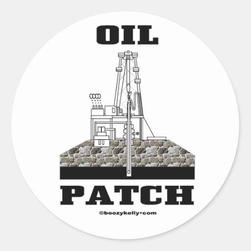 Remiendo del aceite, pegatina del campo