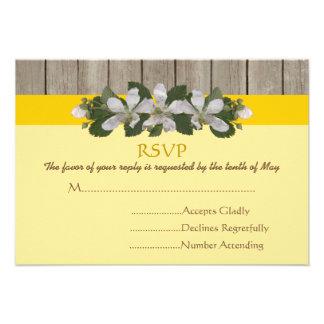 Remiendo del Briar boda amarillo del país del Free