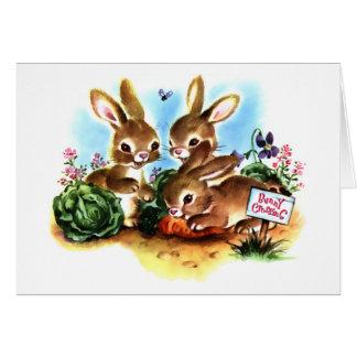 Remiendo del conejito tarjeta de felicitación