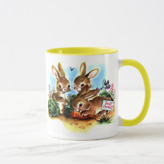 Remiendo del conejito taza