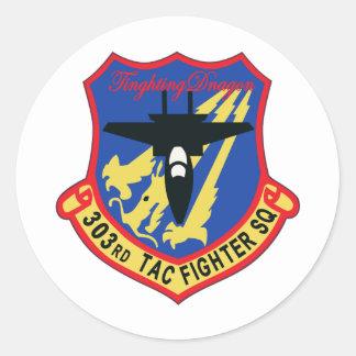 Remiendo del escuadrón de caza de JASDF 303SQ Pegatina Redonda