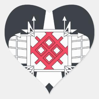 Remiendo del espacio ruso separado de la unidad de pegatinas corazon