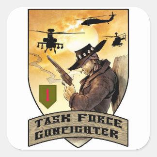 Remiendo del Gunfighter del grupo de trabajo Pegatina Cuadrada