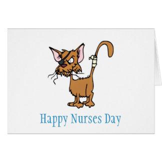Remiendo del ojo de las enfermeras que lleva del tarjeta de felicitación