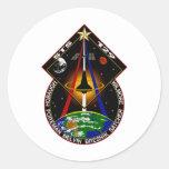 Remiendo del STS 129 Pegatinas Redondas