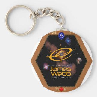 Remiendo del telescopio espacial CSA de James Webb Llavero Redondo Tipo Pin