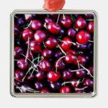 Remiendo del vegano de la fruta de la cereza del ornamentos de reyes