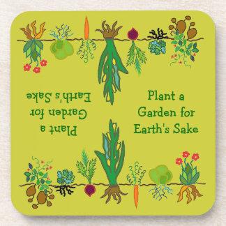 remiendo del veggie de los jardineros posavasos
