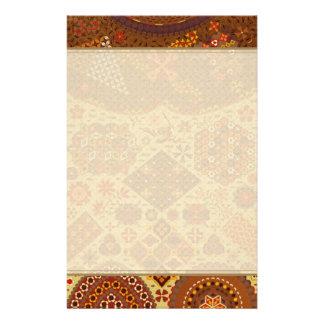 Remiendo del vintage floral - en colores del otoño papeleria de diseño