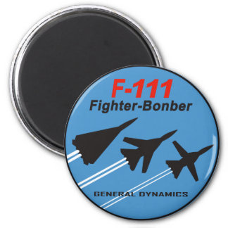 Remiendo F-111 Imán Redondo 5 Cm