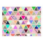 Remiendo floral abstracto del pastel de los tarjeta postal