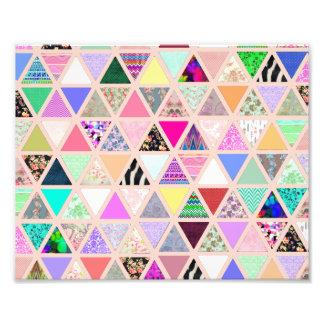 Remiendo floral abstracto del pastel de los triáng fotografía