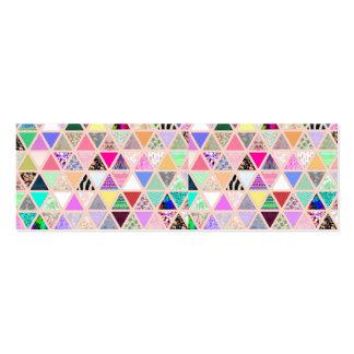 Remiendo floral abstracto del pastel de los triáng plantilla de tarjeta personal