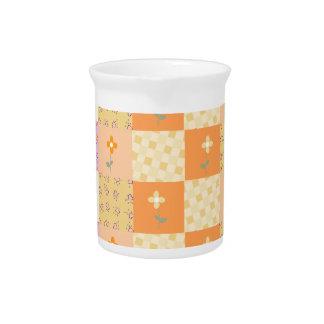 Remiendo floral femenino jarras de beber